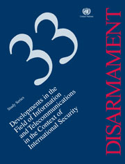 Disarmament Study Series: No. 33