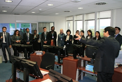2013 UN Disarmament Fellows visiting the International Data Centre of the CTBTO
