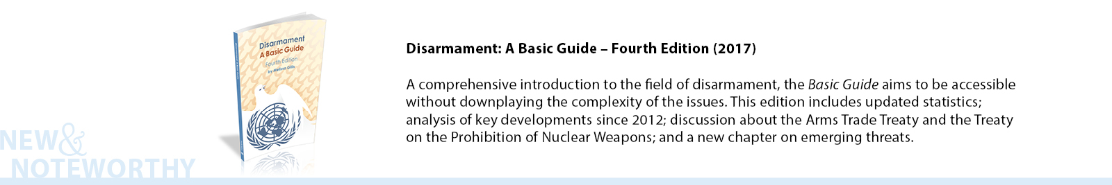 Conceived as a comprehensive introduction to a field central to the work of the United Nations, Disarmament: A Basic Guide aims to provide a useful overview of the nuanced challenges of building a more peaceful world in the twenty-first century. It was written with the general reader in mind and it strives to be accessible without downplaying the complexity of the issues it explores.