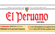 Spanish language editorial in El Peruano based on interview with High Representative