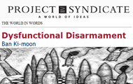 Secretary-General's editorial on the Conference on Disarmament