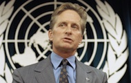 UN Messenger of Peace Michael Douglas urges young artists to draw for peace