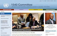 1540 Committee unveils new redesigned website