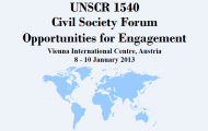 Civil Society Forum in Support of Security Council Resolution 1540 (2004) Offers Opportunities for Engagement