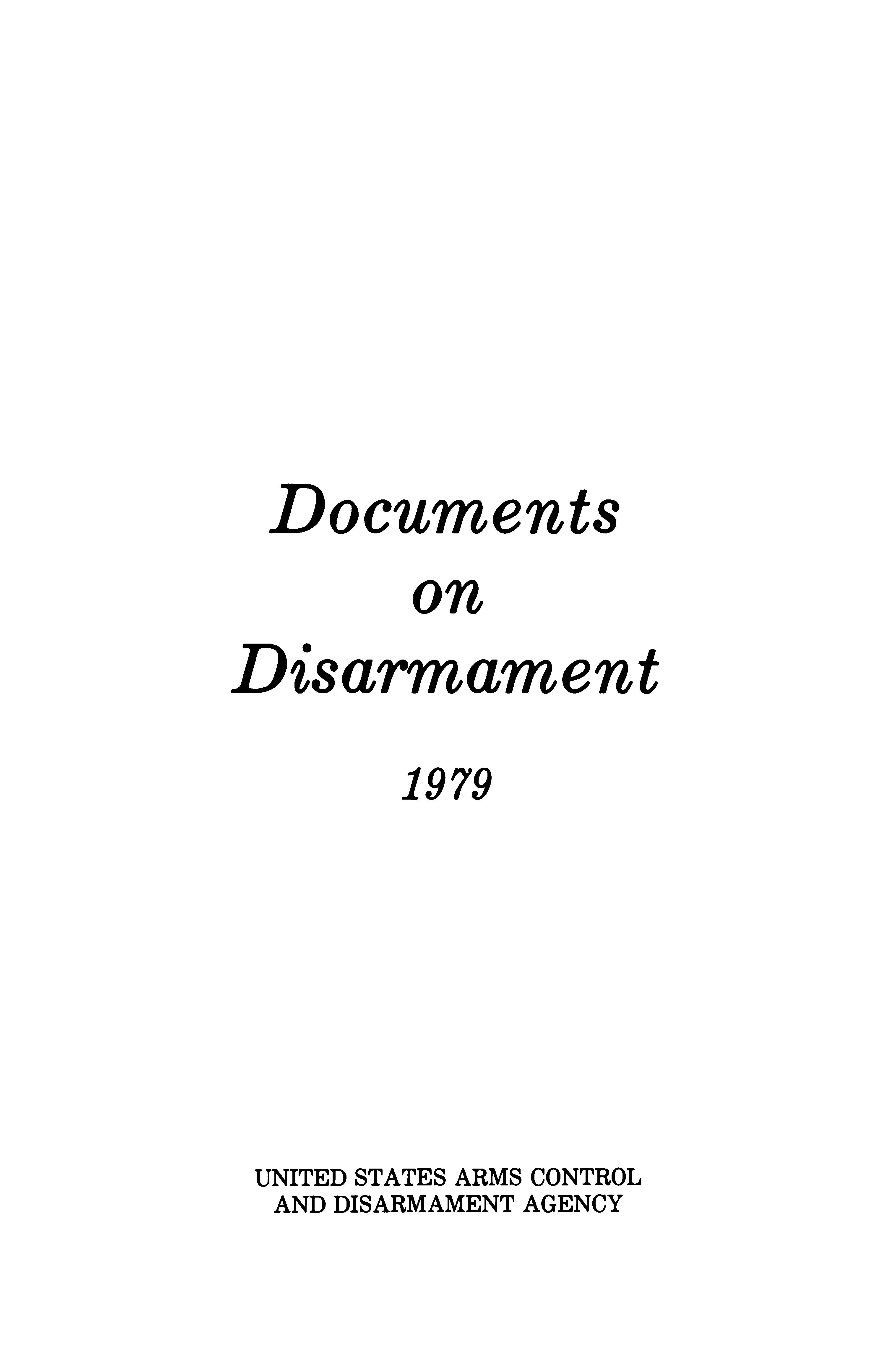 Documents on Disarmament