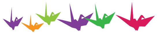 Paper cranes image