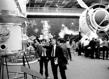 Exhibits at the 1968 UN Conference on Peaceful Uses of Outer Space in Vienna, Austria