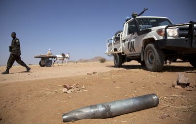 Shell on ground in Darfur