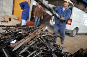 Small Arms destruction in Banja Luka
