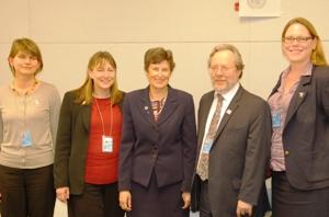 High Representative Angela Kane meets with Humanitarian Disarmament Campaigns Summit delegates