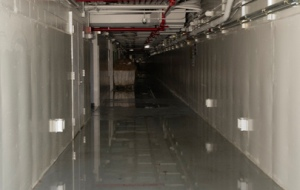 Flood-damaged basement at UN Headquarters